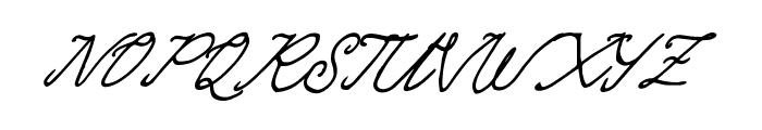 Quickline Font UPPERCASE