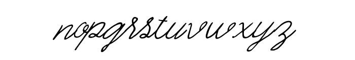 Quickline Font LOWERCASE