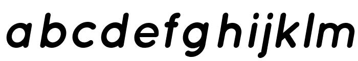Quicksand-BoldItalic Font LOWERCASE