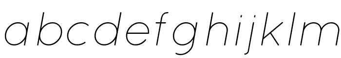 Quicksand Light Italic Font LOWERCASE