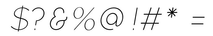 Quicksand Light Oblique Regular Font OTHER CHARS