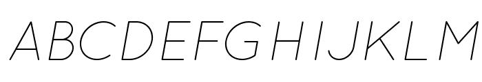 Quicksand Light Oblique Regular Font UPPERCASE