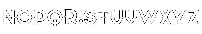 Quiet the Thief EmptyBold Font UPPERCASE