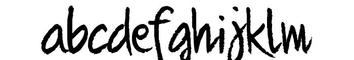 Quikhand Font LOWERCASE