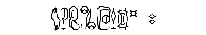 Quill Experimental O BRK Font OTHER CHARS