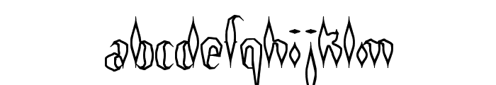 Quill Experimental O BRK Font LOWERCASE