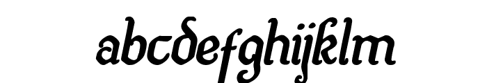 Quill Sword Bold Italic Font LOWERCASE