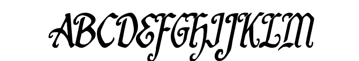 Quill Sword Condensed Italic Font UPPERCASE