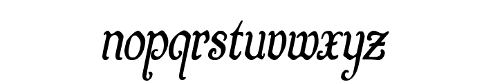 Quill Sword Condensed Italic Font LOWERCASE