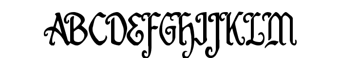 Quill Sword Condensed Font UPPERCASE
