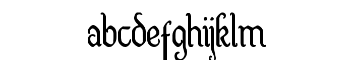 Quill Sword Condensed Font LOWERCASE