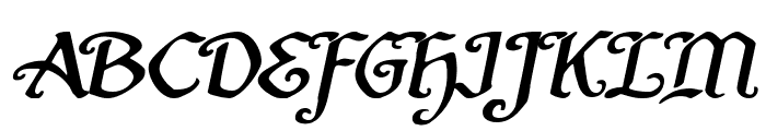 Quill Sword Expanded Italic Font UPPERCASE