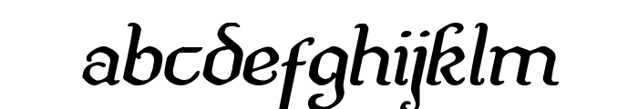 Quill Sword Expanded Italic Font LOWERCASE