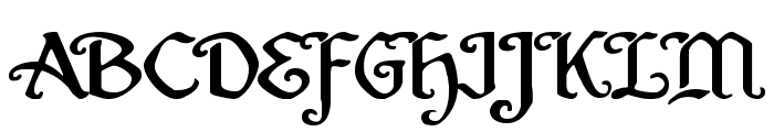 Quill Sword Expanded Font UPPERCASE