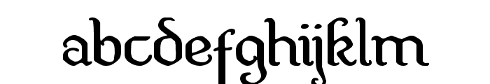 Quill Sword Expanded Font LOWERCASE