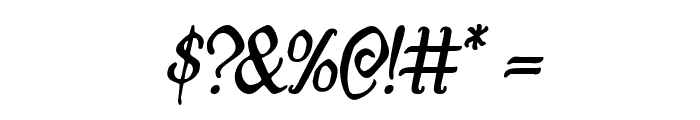 Quill Sword Italic Font OTHER CHARS