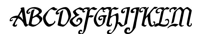 Quill Sword Italic Font UPPERCASE