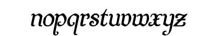 Quill Sword Italic Font LOWERCASE