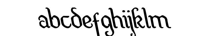 Quill Sword Leftalic Font LOWERCASE