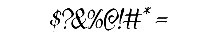 Quill Sword Light Italic Font OTHER CHARS