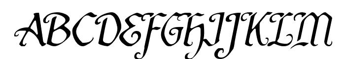 Quill Sword Light Italic Font UPPERCASE