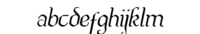 Quill Sword Light Italic Font LOWERCASE