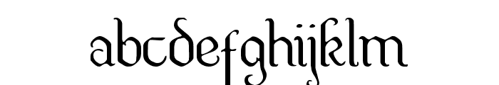 Quill Sword Light Font LOWERCASE