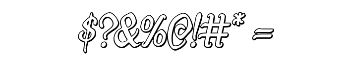 Quill Sword Outline Italic Font OTHER CHARS