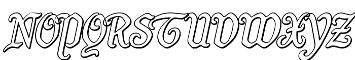 Quill Sword Outline Italic Font UPPERCASE