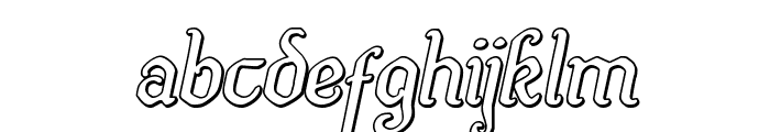 Quill Sword Outline Italic Font LOWERCASE