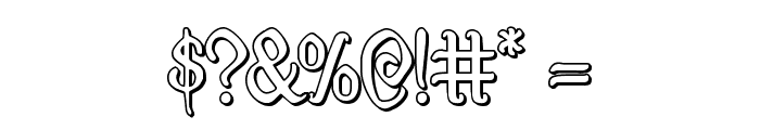 Quill Sword Outline Font OTHER CHARS