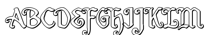Quill Sword Outline Font UPPERCASE