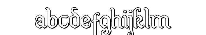 Quill Sword Outline Font LOWERCASE
