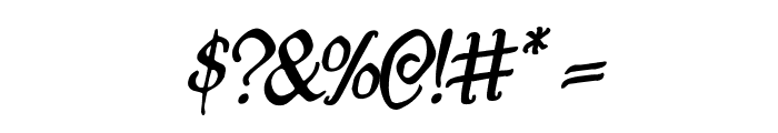 Quill Sword Rotalic Font OTHER CHARS