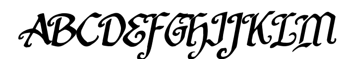 Quill Sword Rotalic Font UPPERCASE