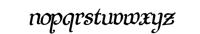 Quill Sword Rotalic Font LOWERCASE