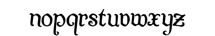 Quill Sword Rotated 2 Font LOWERCASE