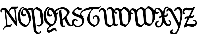 Quill Sword Rotated Font UPPERCASE