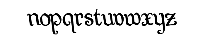 Quill Sword Rotated Font LOWERCASE