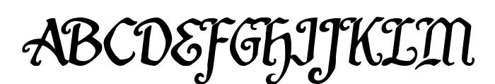 Quill Sword Semi-Italic Font UPPERCASE