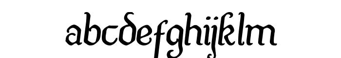 Quill Sword Semi-Italic Font LOWERCASE