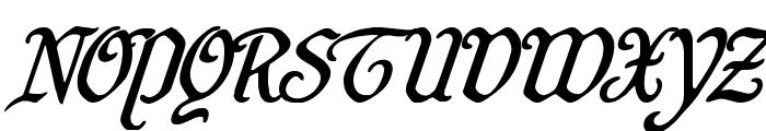 Quill Sword Super-Italic Font UPPERCASE