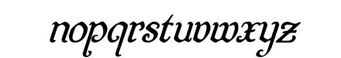 Quill Sword Super-Italic Font LOWERCASE