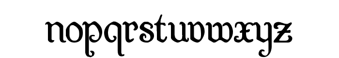 Quill Sword Font LOWERCASE