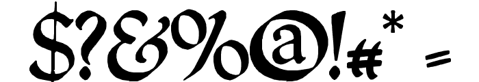 QuillCapitals Font OTHER CHARS
