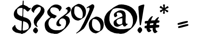 QuillPerpendicularRegular Font OTHER CHARS