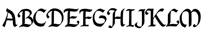QuillPerpendicularRegular Font UPPERCASE