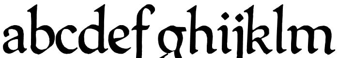QuillPerpendicularRegular Font LOWERCASE