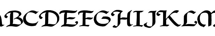 QuillPerpendicularWide Font UPPERCASE