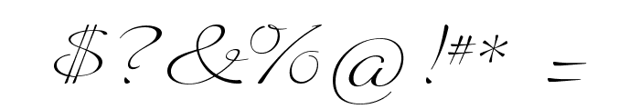 Quilline Script Thin Font OTHER CHARS